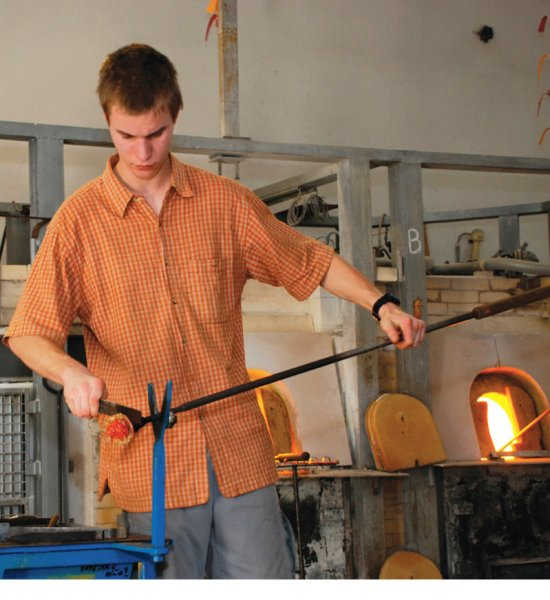 Glassmaker Vocational Training School in Železný Brod